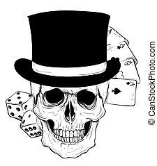 grunge, czaszka, karta, rocznik wina, herb, gotyk, t, marynarka, projektować, interpretacja, koszule