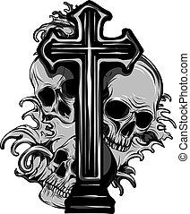 grunge, czaszka, rocznik wina, różaniec, herb, gotyk, marynarka