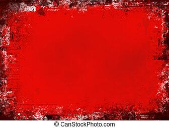 grunge, czerwony