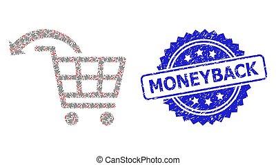 grunge, défaire, mosaïque, icône, timbre, recursion, ordre, moneyback, achats