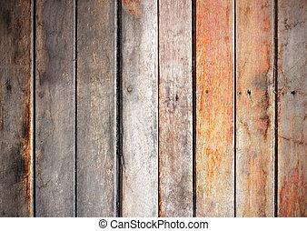 grunge, dřevo, texture., grafické pozadí, dávný, zdobit šaty