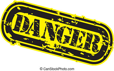 Grunge danger rubber stamp, vector