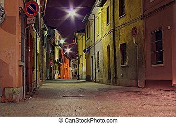 dark alley - grunge dark alley, slums of the city, dirty...
