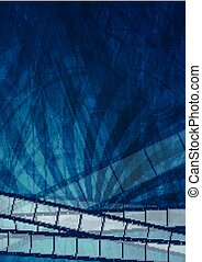 Grunge dark blue filmstrip abstract background