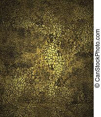 Grunge dark golden cracked texture