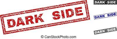 Grunge DARK SIDE Textured Rectangle Stamps - Grunge DARK...