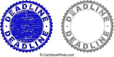 Grunge DEADLINE Textured Stamp Seals