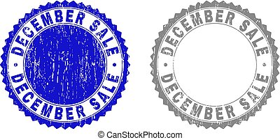 Grunge DECEMBER SALE Textured Stamp Seals