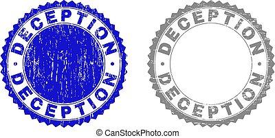 Grunge DECEPTION Scratched Stamps