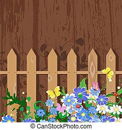 grunge decor with fence