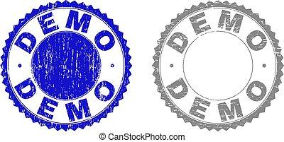 Grunge DEMO Scratched Stamp Seals