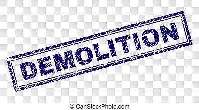 Grunge DEMOLITION Rectangle Stamp