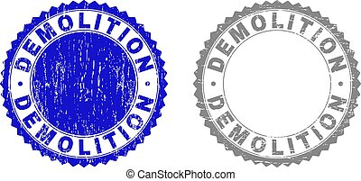 Grunge DEMOLITION Textured Stamp Seals