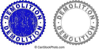 Grunge DEMOLITION Textured Stamp Seals