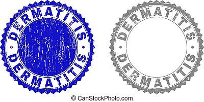 Grunge DERMATITIS Scratched Stamps