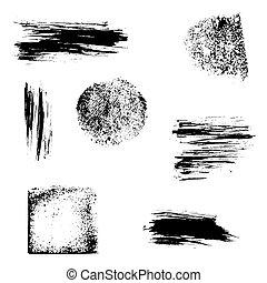 grunge, desenho, cobrança, elements.
