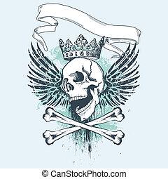 grunge, desenho, pirata