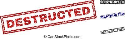Grunge DESTRUCTED Scratched Rectangle Stamp Seals - Grunge ...