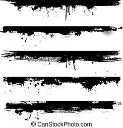grunge, detail, jako, borders