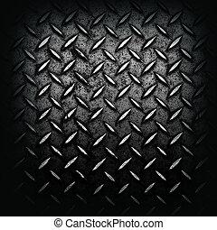 grunge, diamant, black , geplateerd metaal