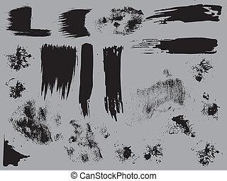 Grunge Dirty Elements Vectors