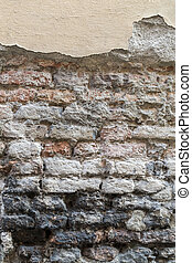 Grunge dirty old brick stone wall background