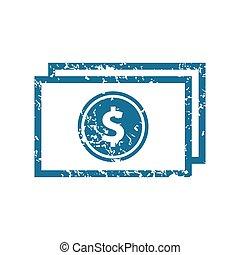 Grunge dollar banknote icon