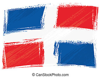 Grunge Dominican Republic flag - Dominican Republic national...
