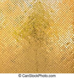 grunge, dorato, mosaico