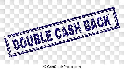 Grunge DOUBLE CASH BACK Rectangle Stamp