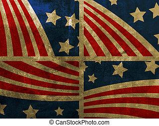 grunge, drapeau etats-unis