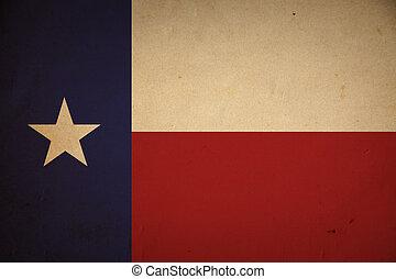 grunge, drapeau texas