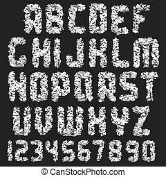 grunge, dreckige , font.