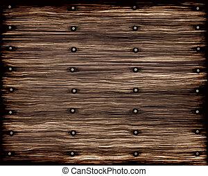 grunge, drewno, stary, deski