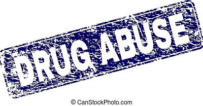 Grunge DRUG ABUSE Framed Rounded Rectangle Stamp