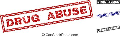 Grunge DRUG ABUSE Scratched Rectangle Watermarks