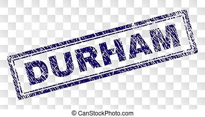 Grunge DURHAM Rectangle Stamp