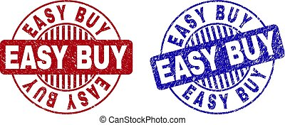 Grunge EASY BUY Textured Round Stamps