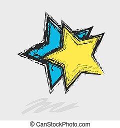 grunge edges blue star texture