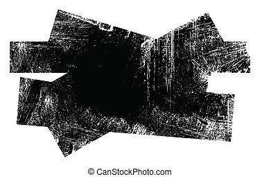 Grunge Edges Messy Shape Vector Frame and Banner Design