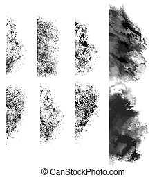 grunge edges vector - grunge edges in vector format isolated...