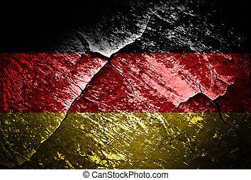 grunge effect flag of Germany