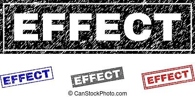 Grunge EFFECT Textured Rectangle Stamp Seals