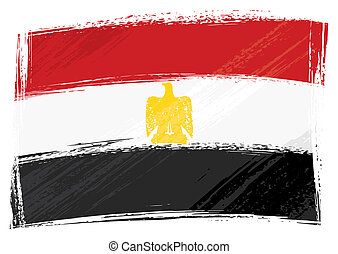Egypt national flag created in grunge style