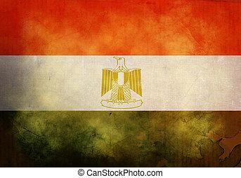 Grunge Egyptian Flag - Egyptian Flag on old and vintage...