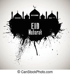 grunge eid mubarak background
