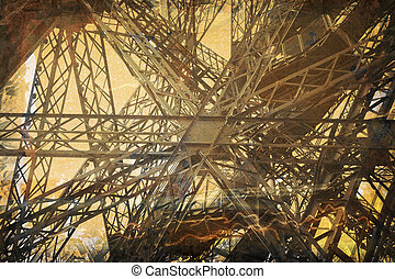Grunge Eiffel Tower