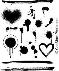 grunge, elementos, diseño