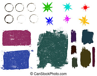 Grunge elements 2 - Highly Detailed vector grunge elements. Grouped and layered for ease of use and coloring