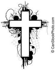 grunge, emblema, crucifixos